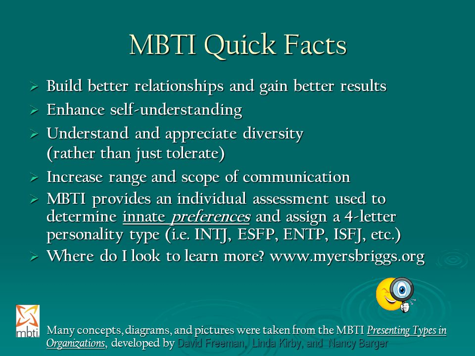 MBTI Quick Facts Build better relationships and gain better results