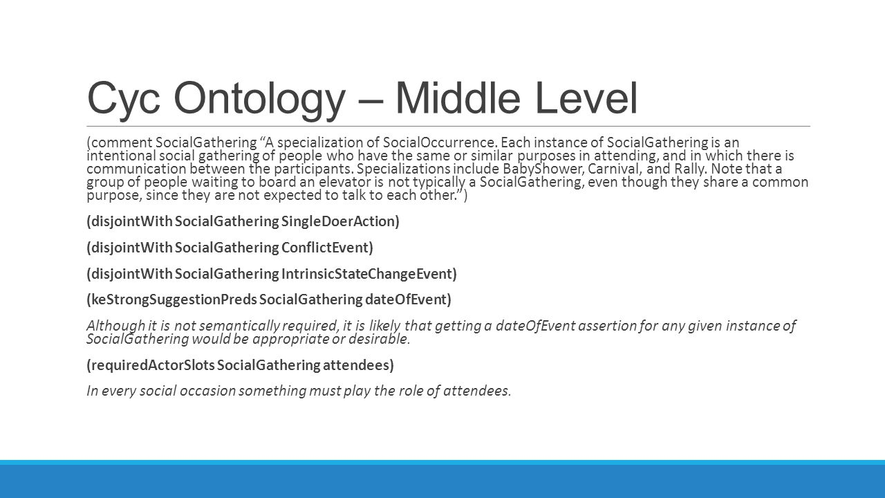 Cyc Ontology – Middle Level