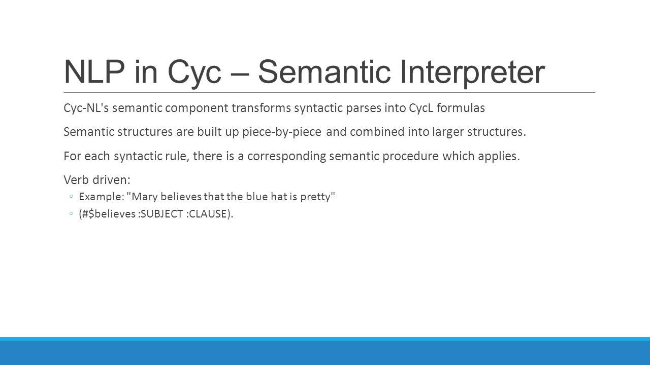 NLP in Cyc – Semantic Interpreter