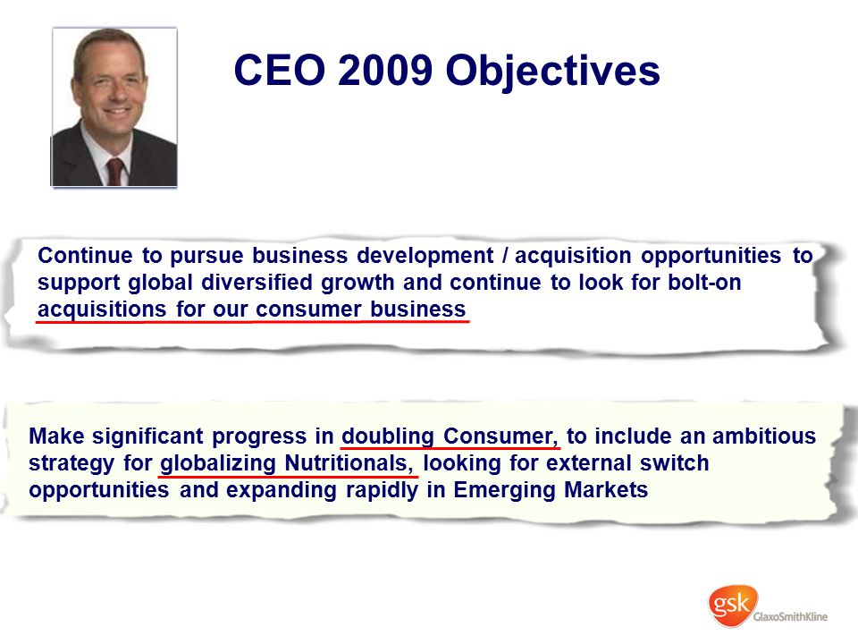 CEO 2009 Objectives