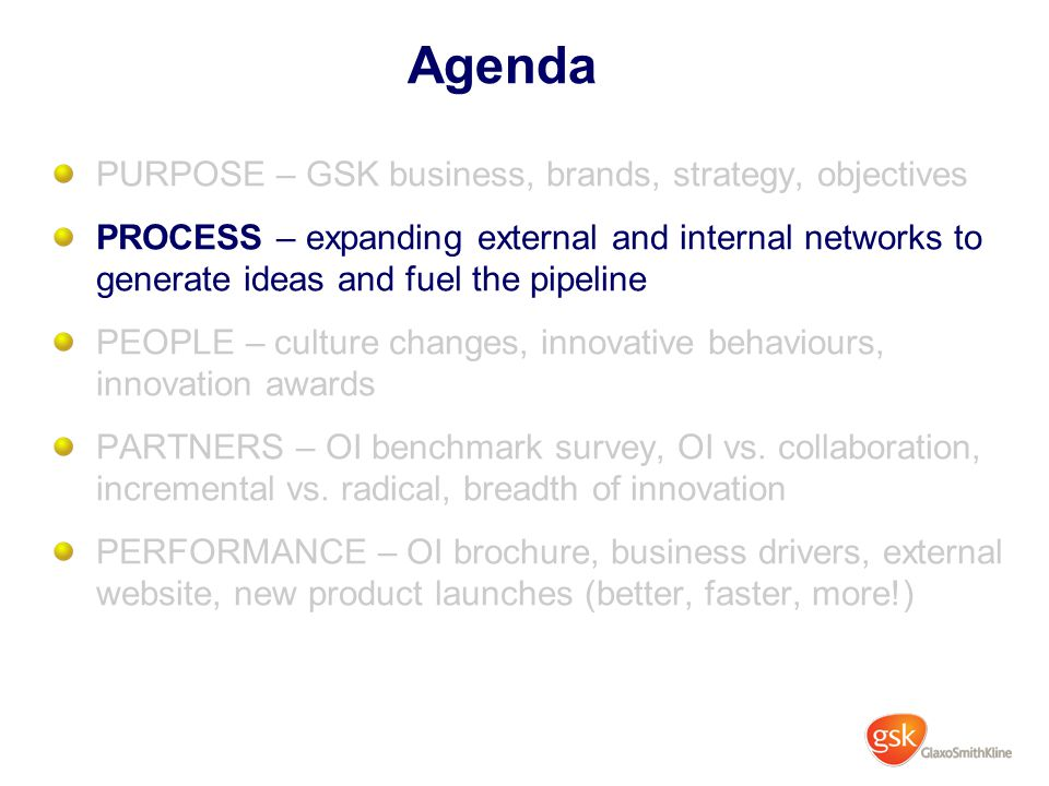 glaxosmithkline gsk successful internal innovation View robert merritt's  network innovation at glaxosmithkline  he has a proven record of successful strategic planning coupled with an intimate.