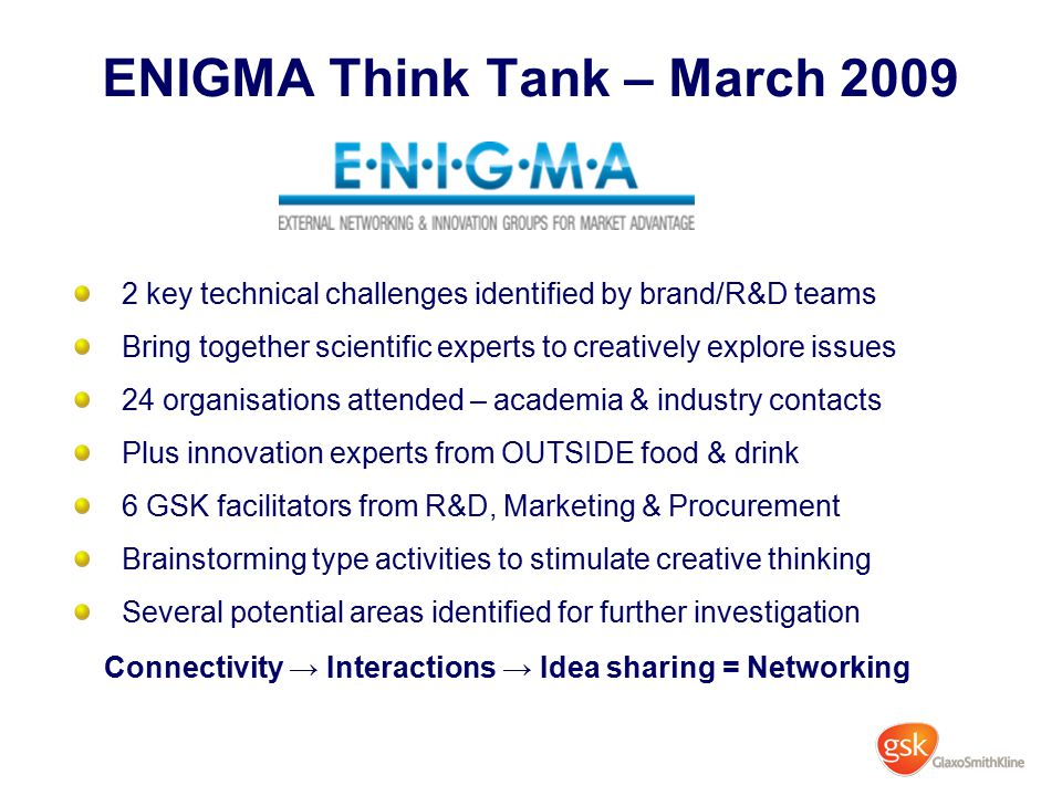 ENIGMA Think Tank – March 2009