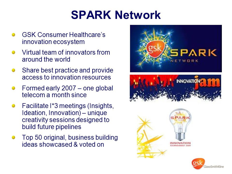 SPARK Network GSK Consumer Healthcare's innovation ecosystem