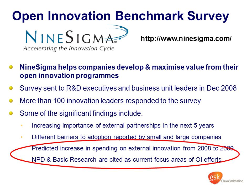 Open Innovation Benchmark Survey