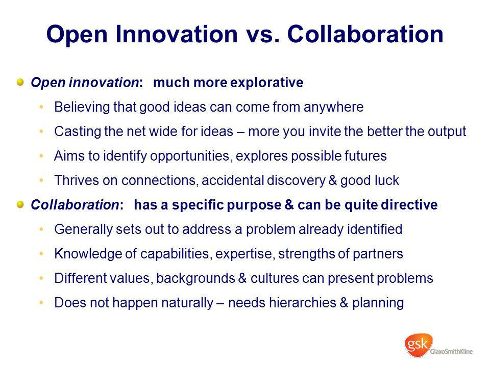Open Innovation vs. Collaboration