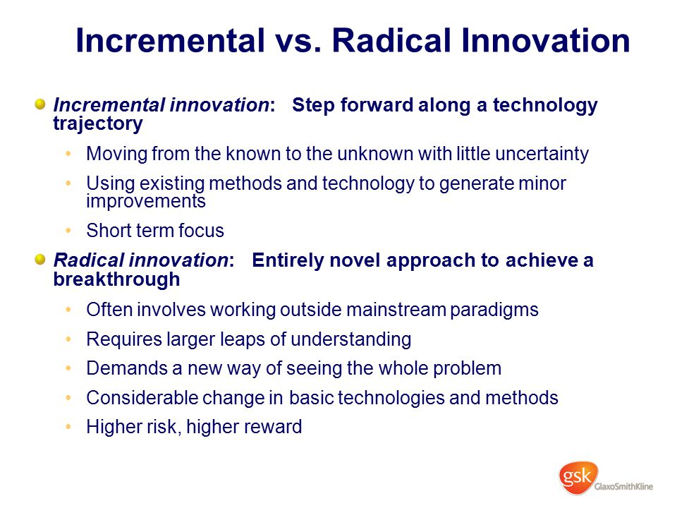 Incremental vs. Radical Innovation