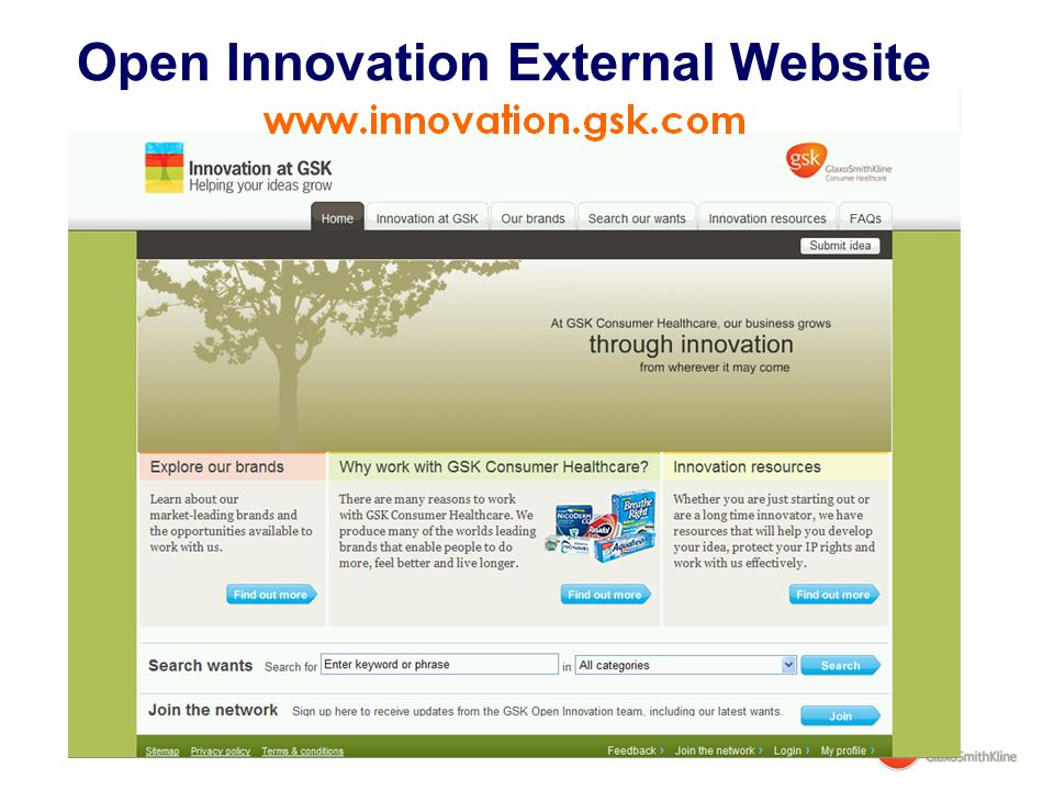 Open Innovation External Website