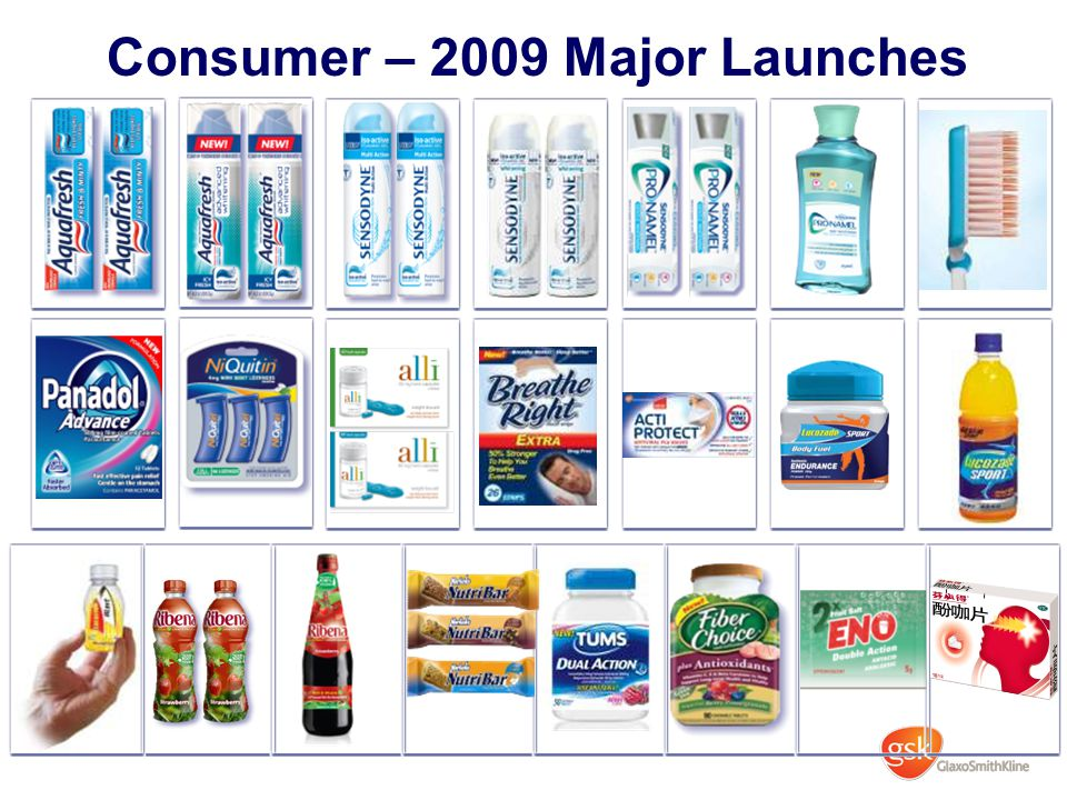 Consumer – 2009 Major Launches