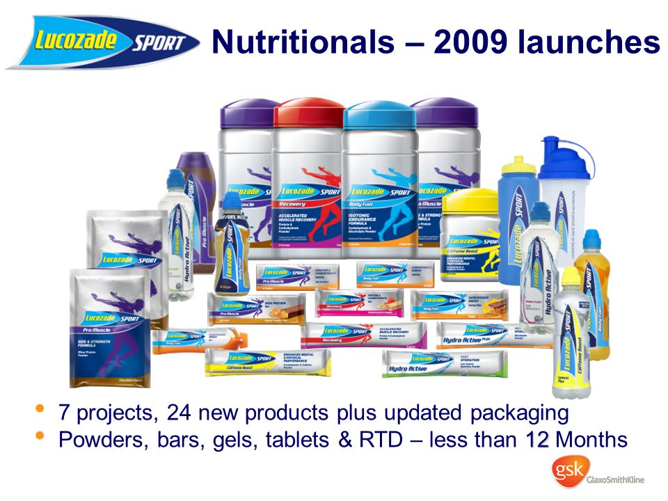 Nutritionals – 2009 launches
