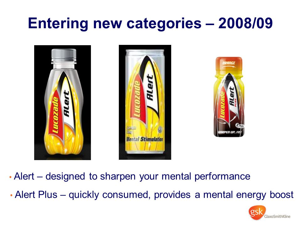 Entering new categories – 2008/09