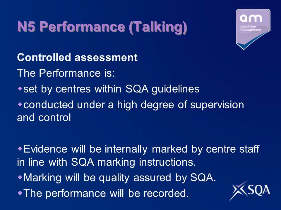 N5 Performance (Talking)