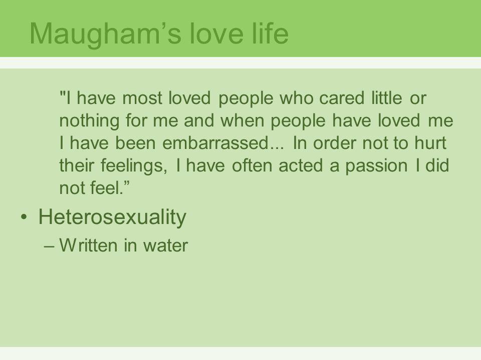 Maugham's love life Heterosexuality