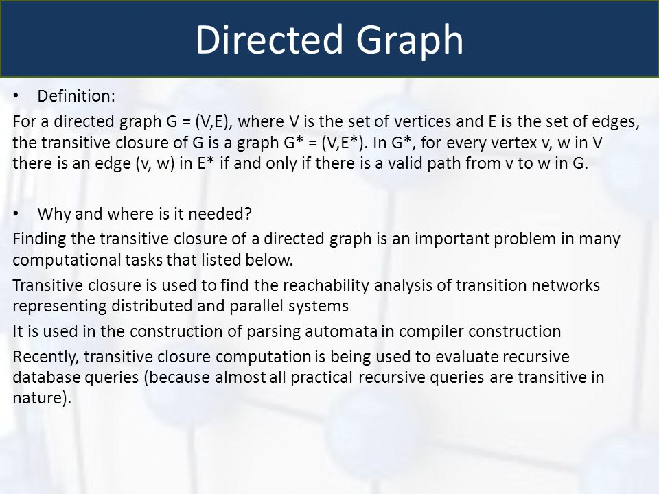 Directed Graph Definition: