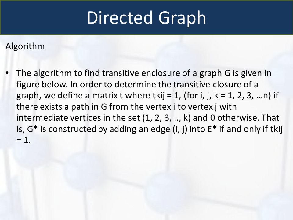 Directed Graph Algorithm