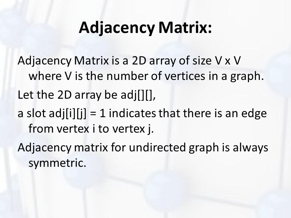 Adjacency Matrix:
