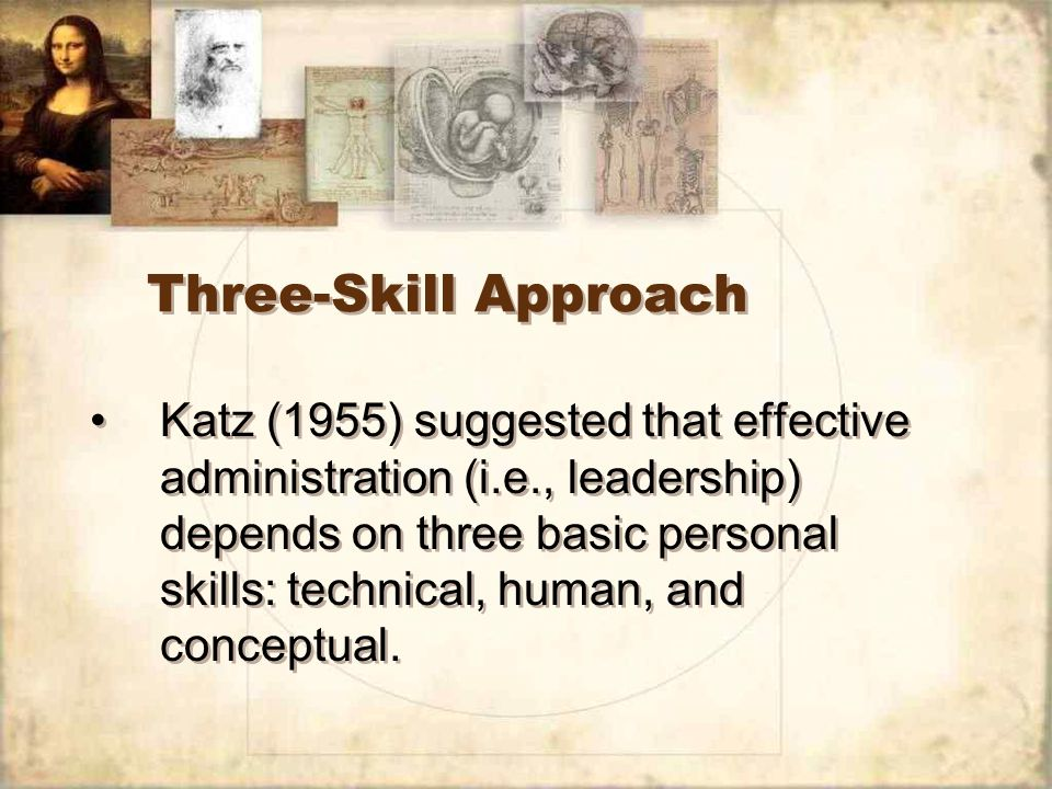 Three-Skill Approach