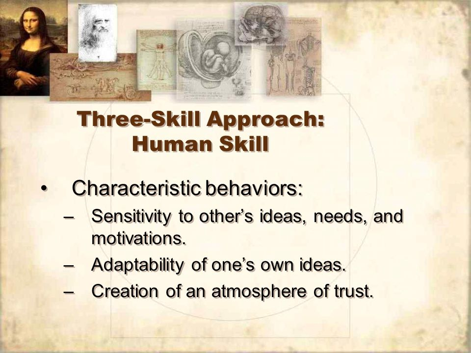 Three-Skill Approach: Human Skill