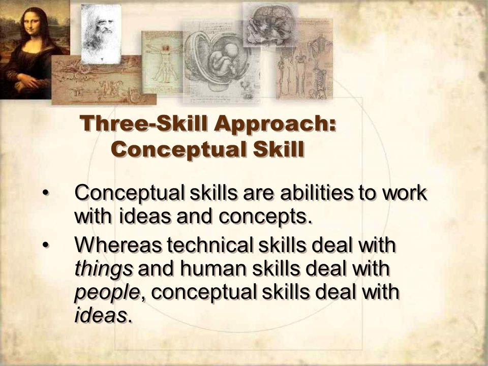 Three-Skill Approach: Conceptual Skill