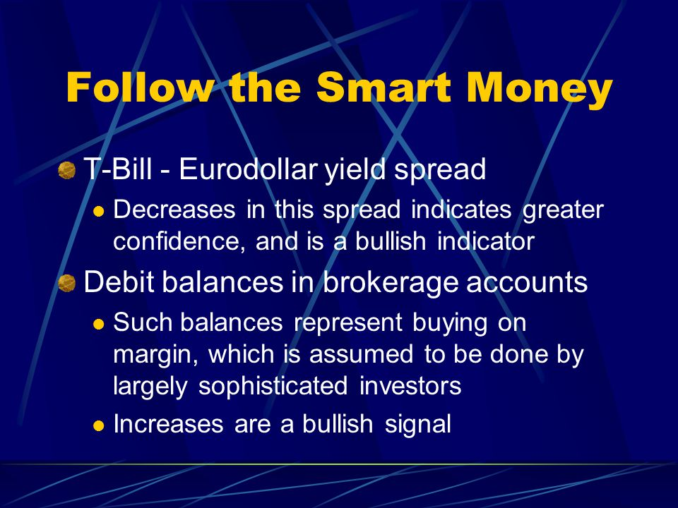 Follow the Smart Money T-Bill - Eurodollar yield spread
