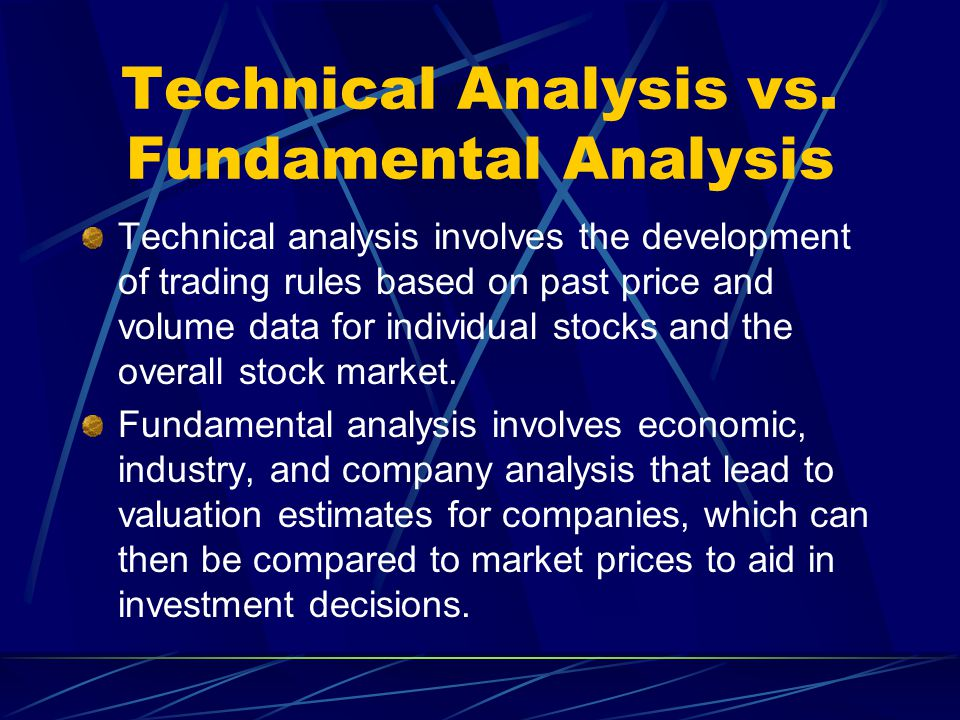 Technical Analysis  Ppt Video Online Download