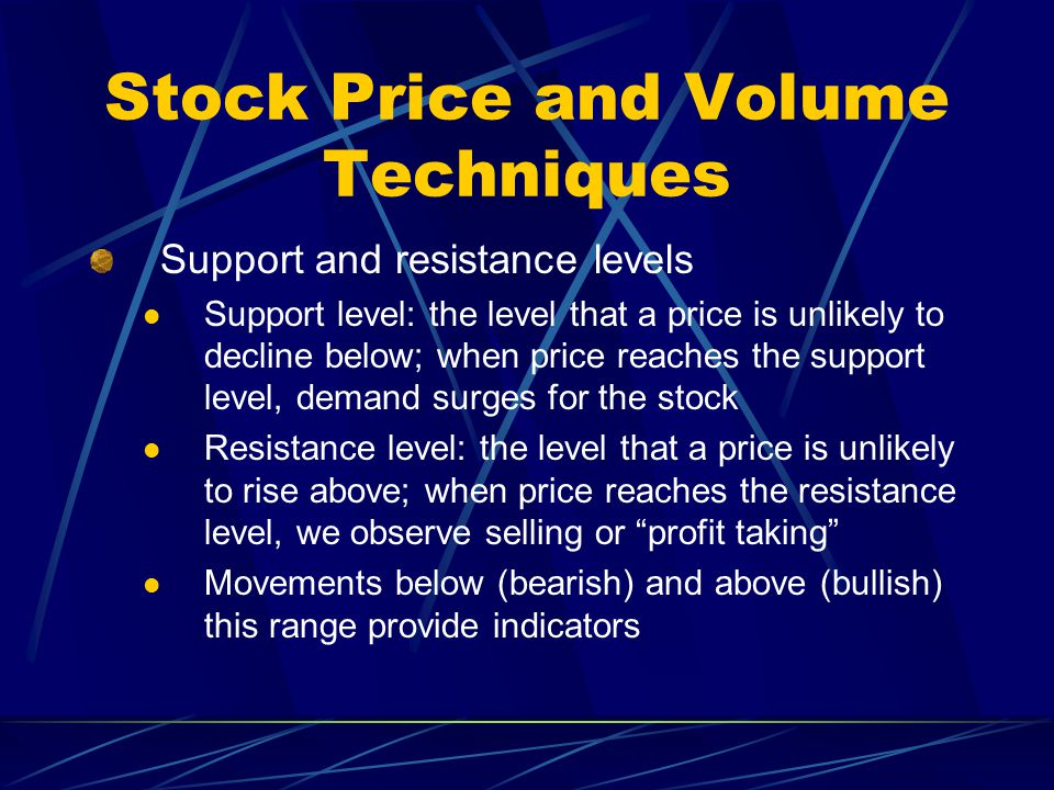 Stock Price and Volume Techniques