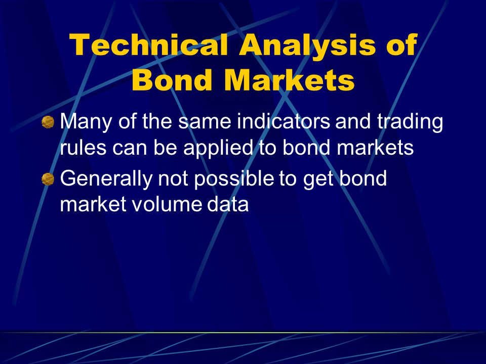 Technical Analysis of Bond Markets