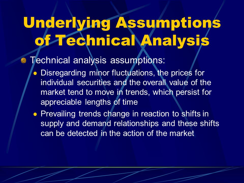 Underlying Assumptions of Technical Analysis