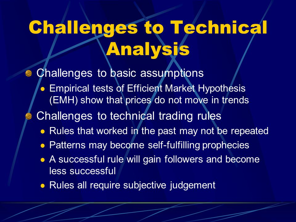Challenges to Technical Analysis