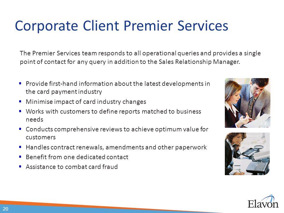 Corporate Client Premier Services