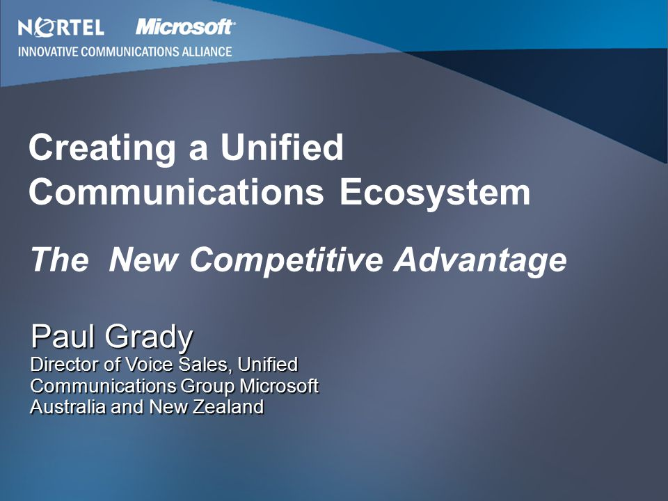 Creating a Unified Communications Ecosystem