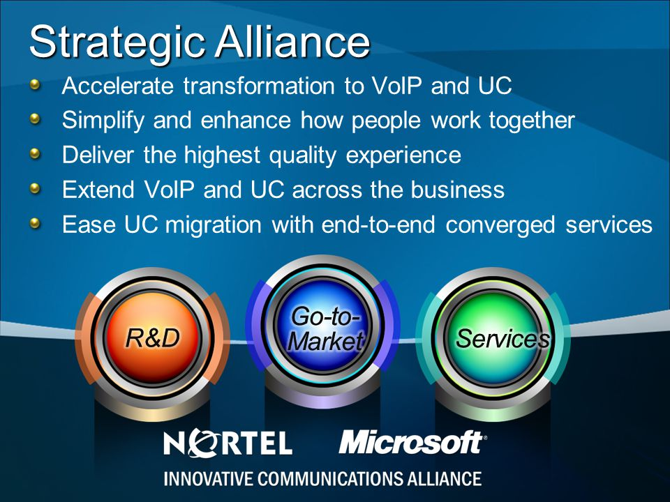 Strategic Alliance Go-to-Market R&D Services
