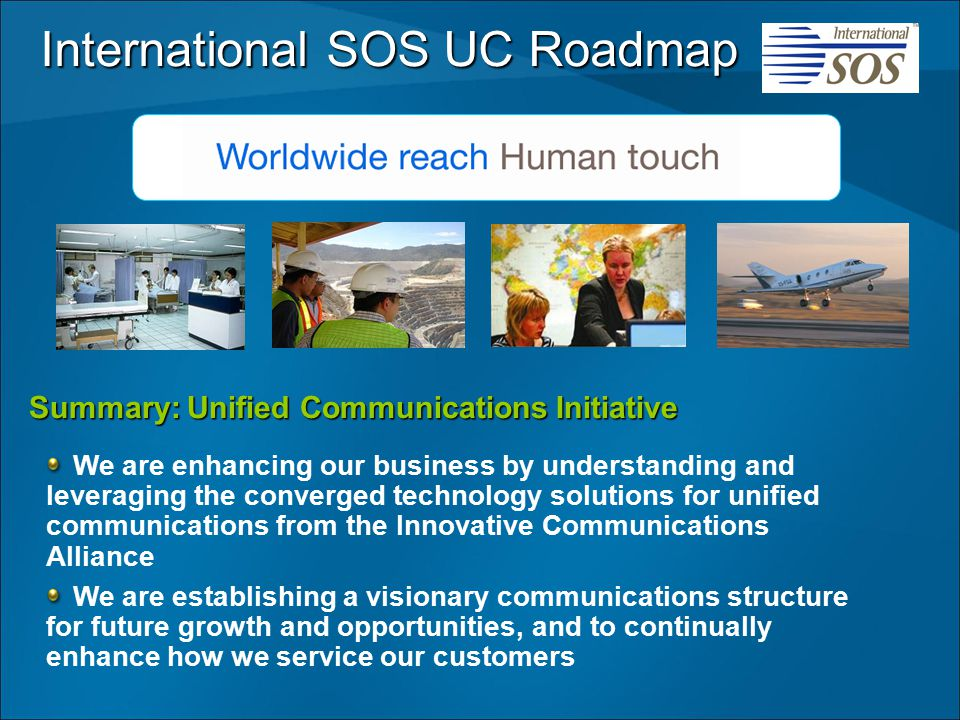 International SOS UC Roadmap