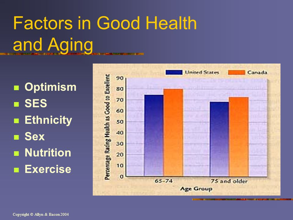 Factors in Good Health and Aging