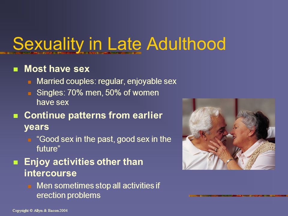 Sexuality in Late Adulthood