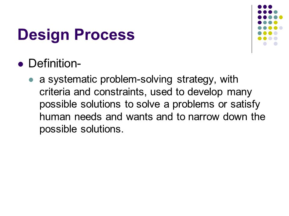 Design Process Definition-