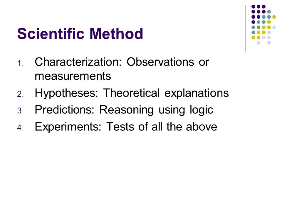 Scientific Method Characterization: Observations or measurements