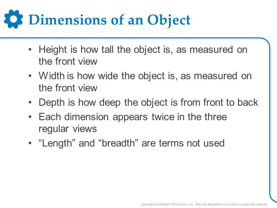 Dimensions of an Object