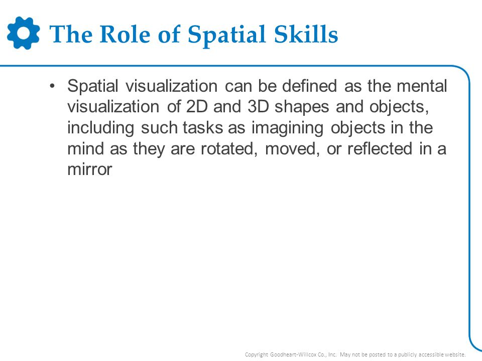 The Role of Spatial Skills