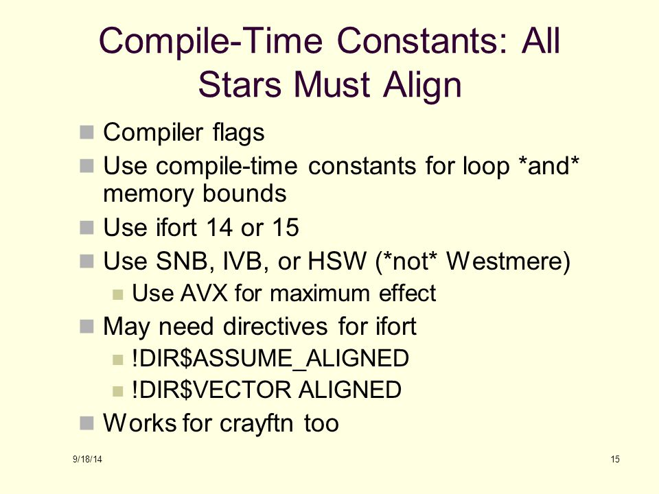 Compile-Time Constants: All Stars Must Align