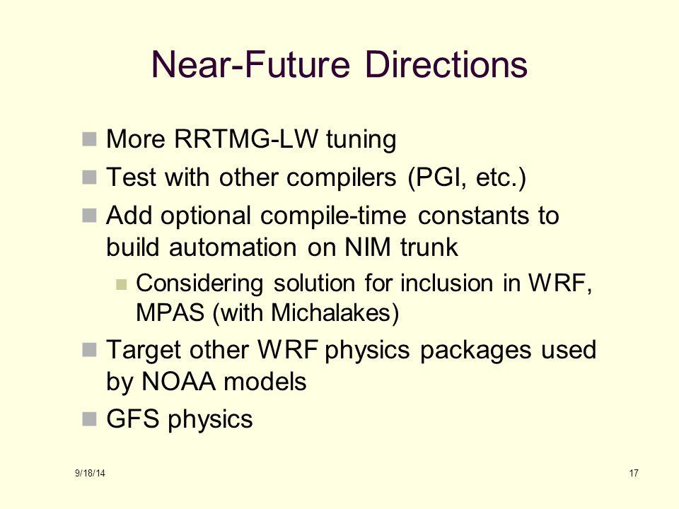 Near-Future Directions