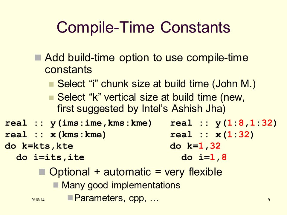 Compile-Time Constants