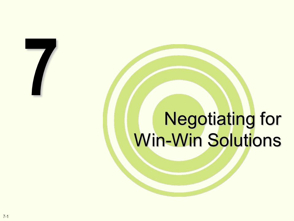 Negotiating for Win-Win Solutions