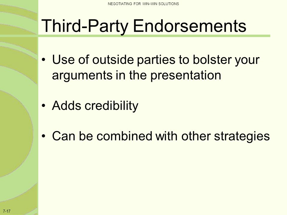 Third-Party Endorsements