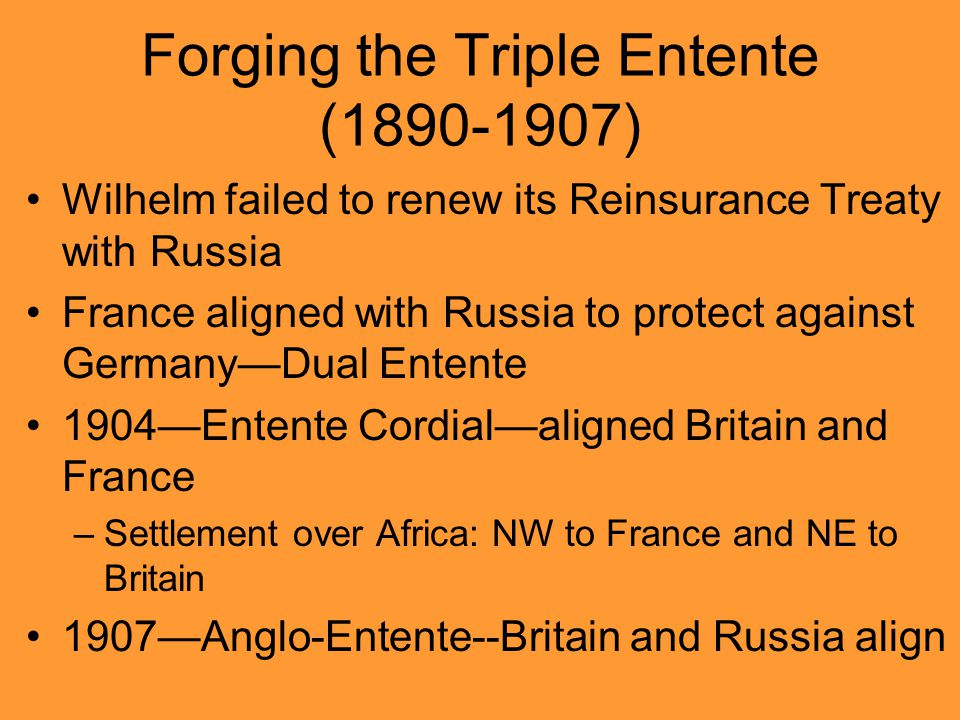 Forging the Triple Entente (1890-1907)