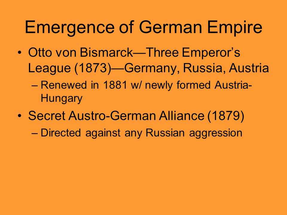 Emergence of German Empire