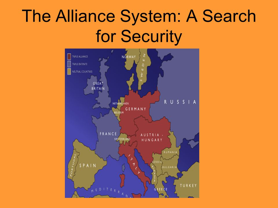The Alliance System: A Search for Security