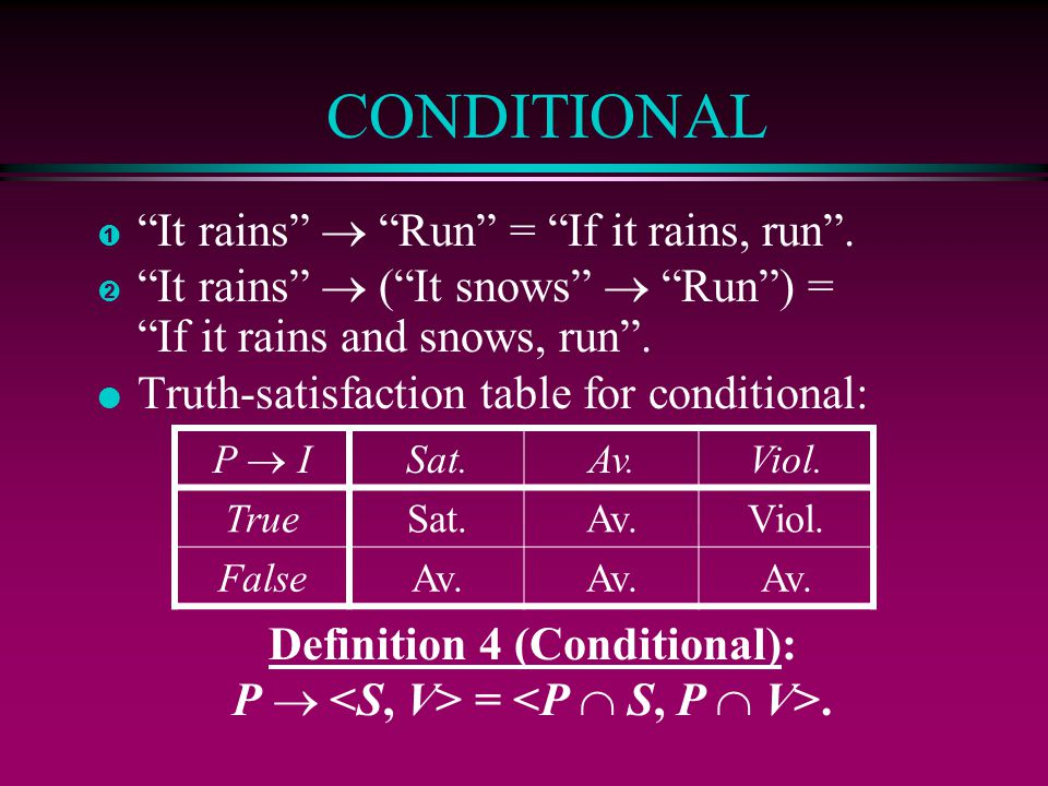Definition 4 (Conditional):
