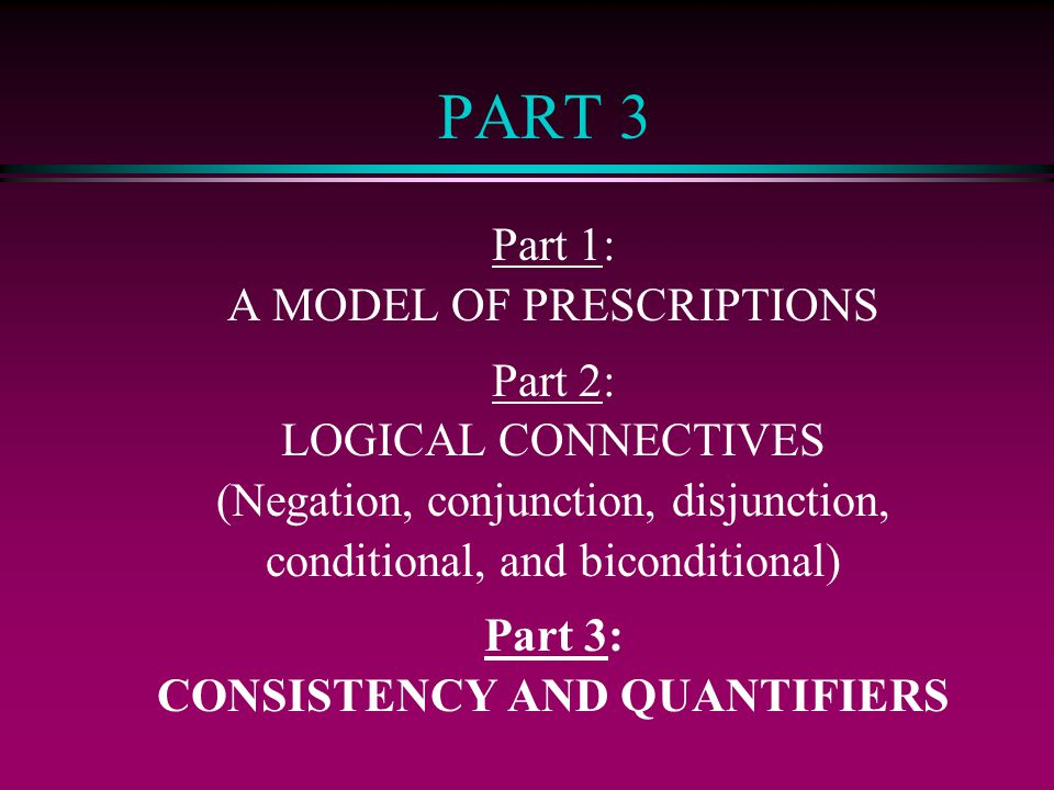 CONSISTENCY AND QUANTIFIERS