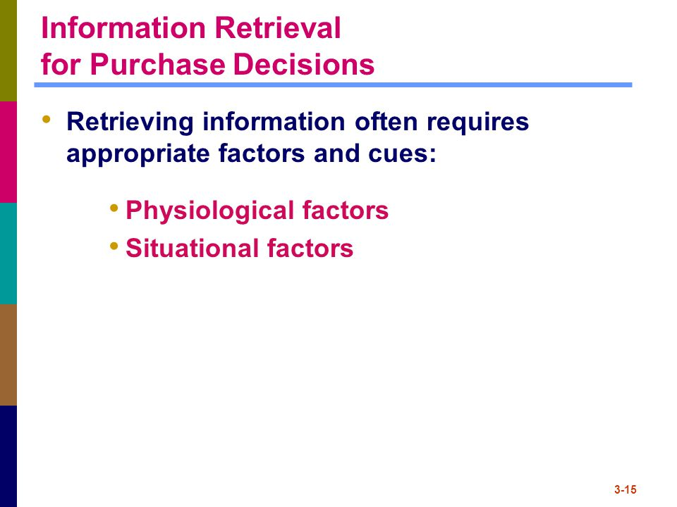 Information Retrieval for Purchase Decisions