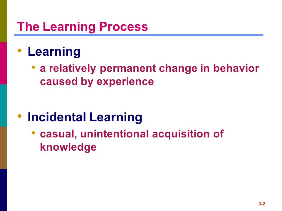 The Learning Process Learning Incidental Learning